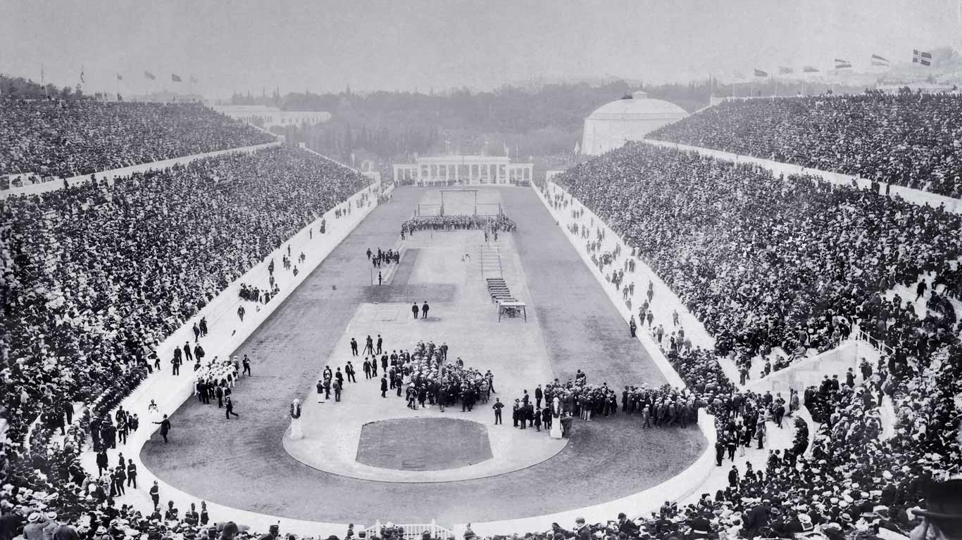 Opening-ceremony-of-the-1896-Olympic-Games-in-Panathinaiko-Stadium-Athens-Greece-20160406